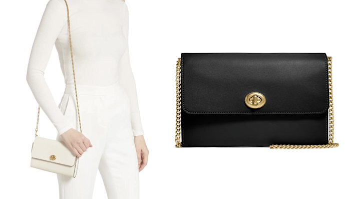 This dainty Coach crossbody bag will elevate any outfit.