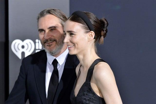 Joaquin Phoenix and Rooney Mara at joker premiere