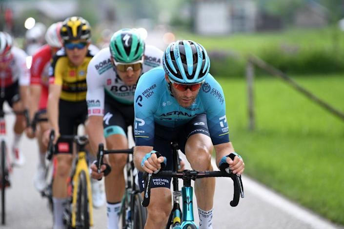 """<p>Houle is definitely not a household name, but the 30-year-old Canadian must be doing something right: he's been a WorldTour professional since 2013 and is about to start his third consecutive <a href=""""https://www.bicycling.com/tour-de-france/a21763983/watch-tour-de-france/"""" rel=""""nofollow noopener"""" target=""""_blank"""" data-ylk=""""slk:Tour de France"""" class=""""link rapid-noclick-resp"""">Tour de France</a>. And while he's only won one race in his career, he's worth his weight in gold as a domestique willing to bury himself for the sake of his teammates. If things go his way (which likely means the team's GC captain is out of contention for a high finish), he'll get a chance to join a few breakaways, but look for his contributions to be more behind-the-scenes than off-the-front.</p>"""