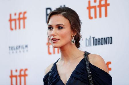 "Actor Keira Knightley arrives for the Canadian premiere of the movie ""Colette"" at the Toronto International Film Festival in Toronto"