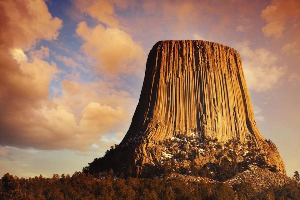"<p>A bunch of movies have been filmed on <a href=""https://travelwyoming.com/national-parks-and-monuments/devils-tower"" rel=""nofollow noopener"" target=""_blank"" data-ylk=""slk:Devil's Tower"" class=""link rapid-noclick-resp"">Devil's Tower</a> making it a must-see destination for cinephiles. </p>"