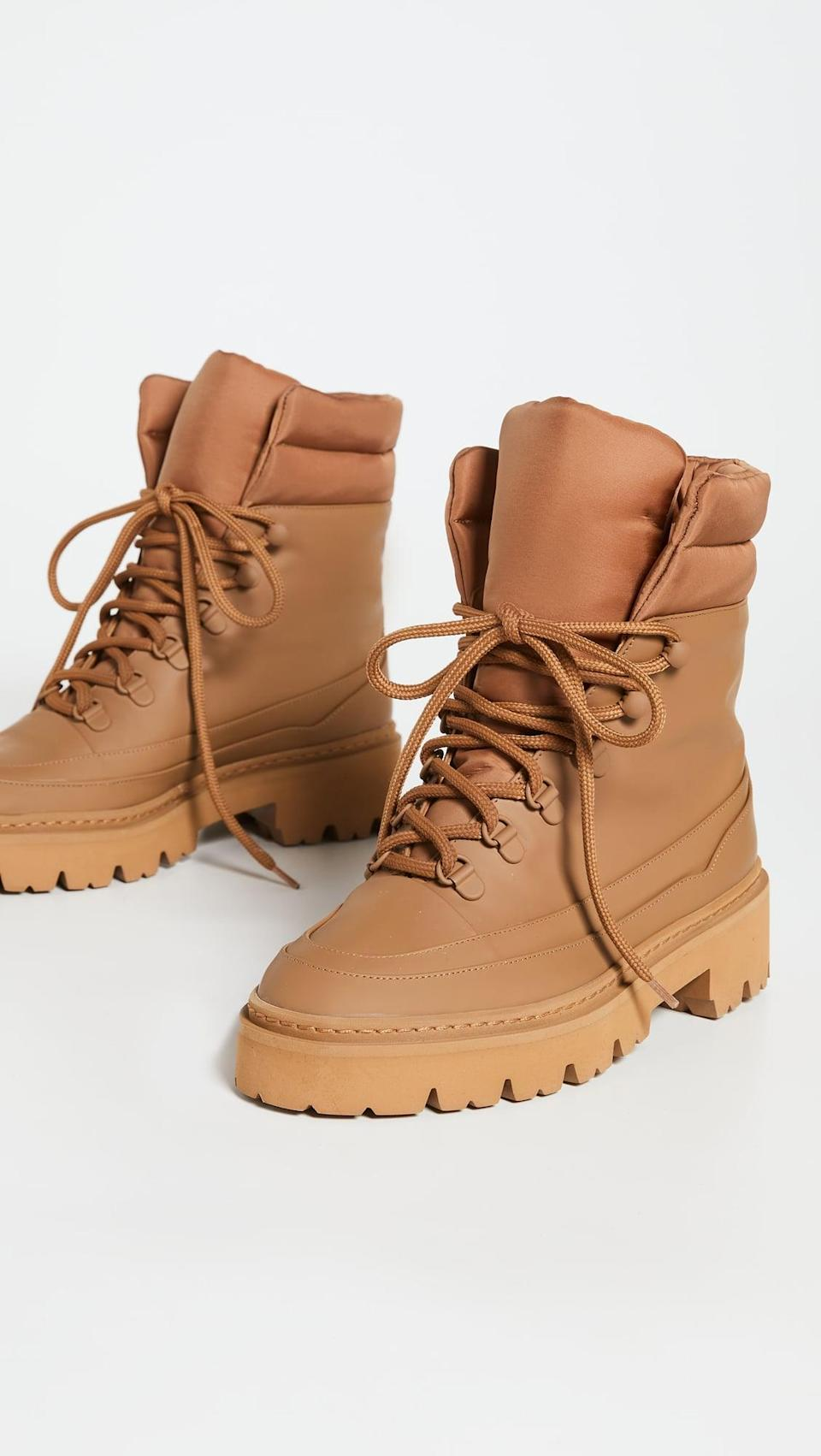 <p>These <span>Gia Borghini Terra Puffy Top Hiking Boots</span> ($595) are comfortable and cool. We might not wear them climbing Everest, but they're great for pretty much anywhere else.</p>