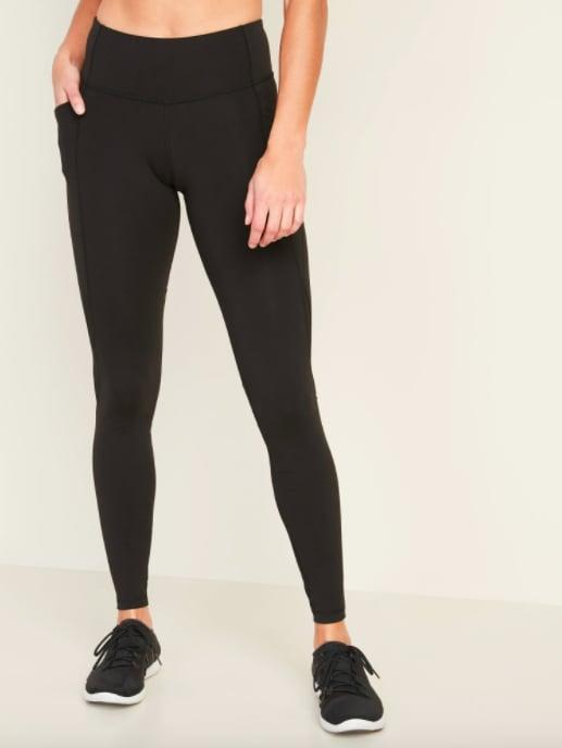 """<p>I love these <a href=""""https://www.popsugar.com/buy/Old-Navy-Mid-Rise-Elevate-Side-Pocket-Mesh-Trim-Compression-Leggings-569479?p_name=Old%20Navy%20Mid-Rise%20Elevate%20Side-Pocket%20Mesh-Trim%20Compression%20Leggings&retailer=oldnavy.gap.com&pid=569479&price=22&evar1=fit%3Auk&evar9=47431653&evar98=https%3A%2F%2Fwww.popsugar.com%2Ffitness%2Fphoto-gallery%2F47431653%2Fimage%2F47431654%2FOld-Navy-Mid-Rise-Elevate-Side-Pocket-Mesh-Trim-Compression-Leggings&list1=shopping%2Cold%20navy%2Cworkout%20clothes%2Cleggings%2Cproduct%20reviews&prop13=api&pdata=1"""" class=""""link rapid-noclick-resp"""" rel=""""nofollow noopener"""" target=""""_blank"""" data-ylk=""""slk:Old Navy Mid-Rise Elevate Side-Pocket Mesh-Trim Compression Leggings"""">Old Navy Mid-Rise Elevate Side-Pocket Mesh-Trim Compression Leggings</a> ($22, originally $32) so much, I'll be ordering a few more pairs this week.</p>"""