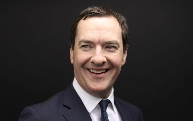 George Osborne, former U.K. chancellor of the exchequer, poses for a photograph following a Bloomberg Television interview on the opening day of the World Economic Forum (WEF) in Davos, Switzerland, on Tuesday, Jan. 22, 2019. World leaders, influential executives, bankers and policy makers attend the 49th annual meeting of the World Economic Forum in Davos from Jan. 22 - 25. Photographer: Simon Dawson/Bloomberg - Simon Dawson/Bloomberg/Simon Dawson/Bloomberg