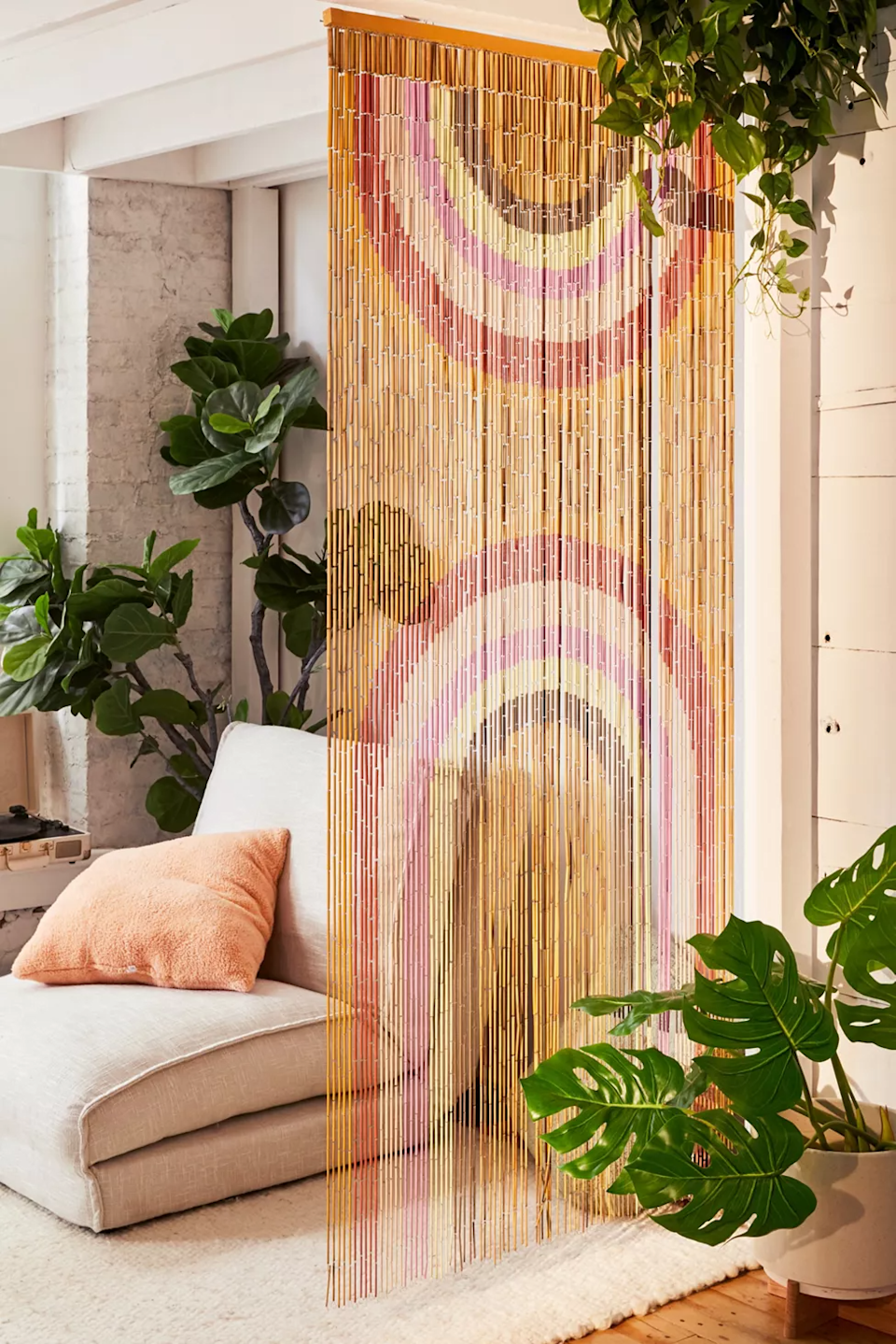 "<h3><a href=""https://www.urbanoutfitters.com/shop/rainbow-bamboo-beaded-curtain"" rel=""nofollow noopener"" target=""_blank"" data-ylk=""slk:Urban Outfitters Rainbow Bamboo Beaded Curtain"" class=""link rapid-noclick-resp"">Urban Outfitters Rainbow Bamboo Beaded Curtain</a></h3><br><strong>When you don't have a door to hang the ""Do Not Disturb"" sign on:</strong> Make your own doorway by hanging this artfully beaded bamboo panel up for a little extra-stylish privacy. <br><br><strong>Urban Outfitters</strong> Rainbow Bamboo Beaded Curtain, $, available at <a href=""https://go.skimresources.com/?id=30283X879131&url=https%3A%2F%2Fwww.urbanoutfitters.com%2Fshop%2Frainbow-bamboo-beaded-curtain"" rel=""nofollow noopener"" target=""_blank"" data-ylk=""slk:Urban Outfitters"" class=""link rapid-noclick-resp"">Urban Outfitters</a>"