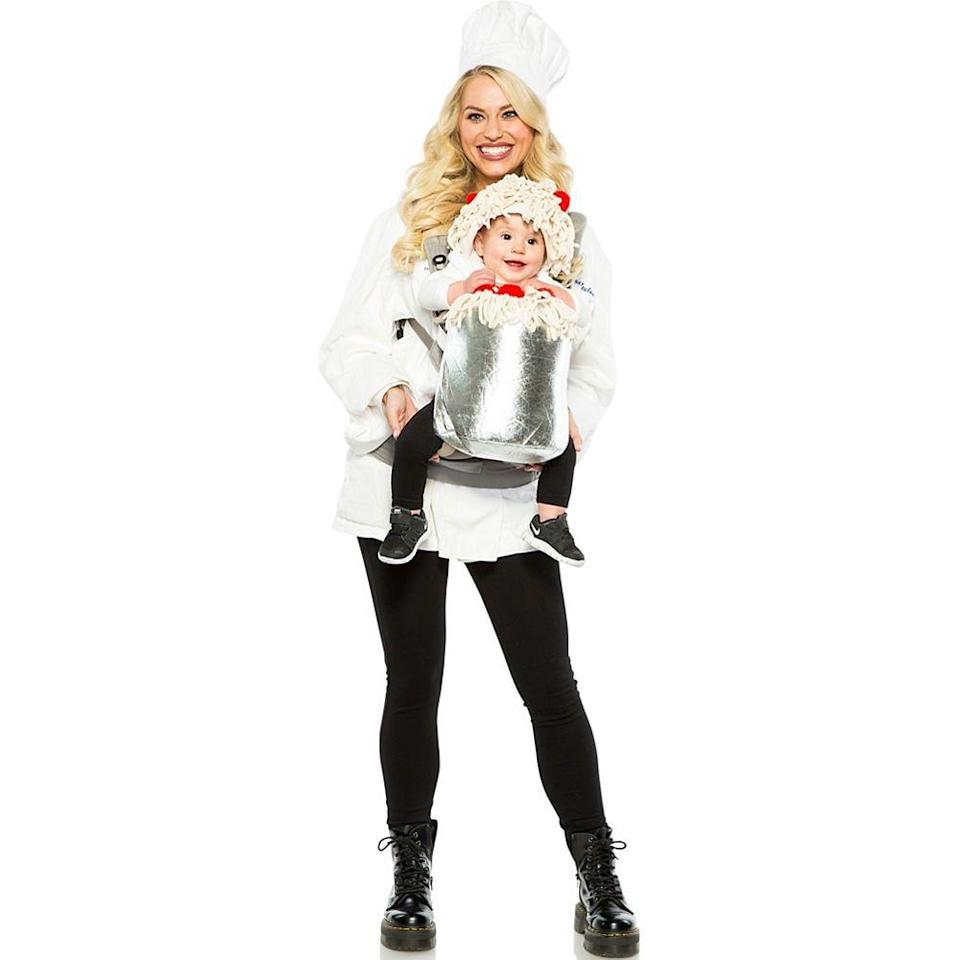 """<p><strong>See All Career Costumes</strong></p><p>partycity.com</p><p><strong>$29.99</strong></p><p><a href=""""https://go.redirectingat.com?id=74968X1596630&url=https%3A%2F%2Fwww.partycity.com%2Fchef-and-spaghetti-baby-and-me-costume-P899026.html&sref=https%3A%2F%2Fwww.delish.com%2Fholiday-recipes%2Fhalloween%2Fg3038%2Fbest-food-halloween-costumes%2F"""" rel=""""nofollow noopener"""" target=""""_blank"""" data-ylk=""""slk:BUY NOW"""" class=""""link rapid-noclick-resp"""">BUY NOW</a></p><p>Listen up, parents! This costume is specially designed to securely hold your little one while you can be hands free. </p>"""