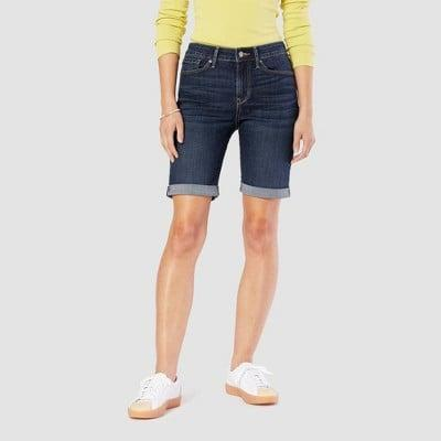 """<p>If you're looking for a longer denim option, we'd recommend the <span>Denizen From Levi's Mid-Rise 9"""" Bermuda Jean Shorts</span> ($22) with a fitted leg and finished cuff.</p>"""