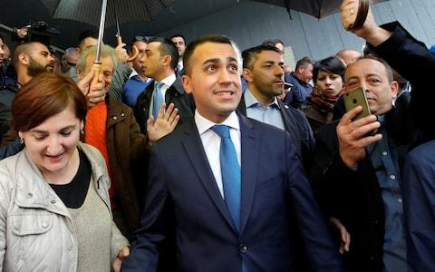 The Five Star Movement, led by Luigi Di Maio, performed dismally, winning just 17% of the vote  - Credit: Reuters/Ciro De Luca