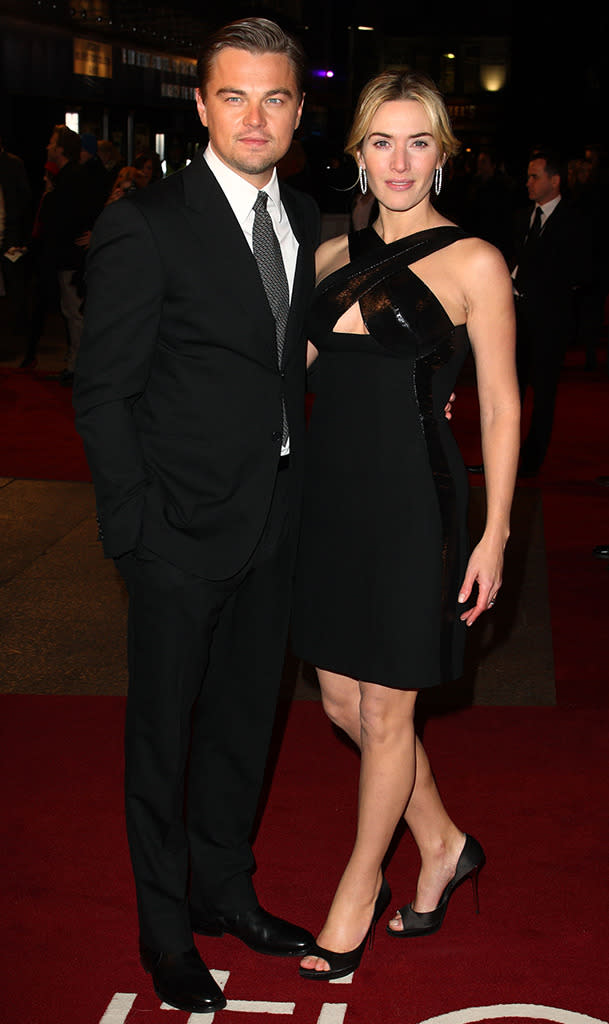 <p>DiCaprio and Winslet attended the London premiere of <i>Revolutionary Road</i> at Odeon Leicester Square on January 18, 2009. (Photo: Mike Marsland/WireImage)</p>