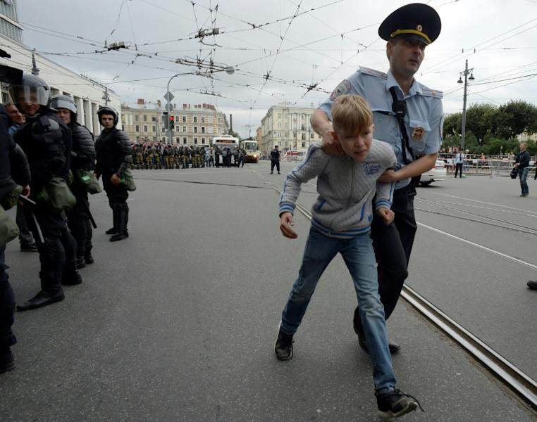 Police arrested over 1,000 people, mainly in Saint Petersburg and the Urals city of Ekaterinburg