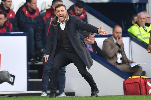 Carlos Carvalhal shouts on the touchline