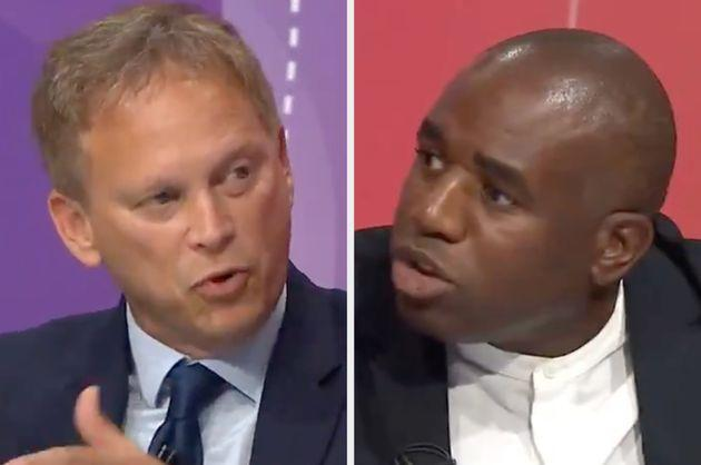 Grant Shapps and David Lammy during BBC Question Time (Photo: BBC Question Time)