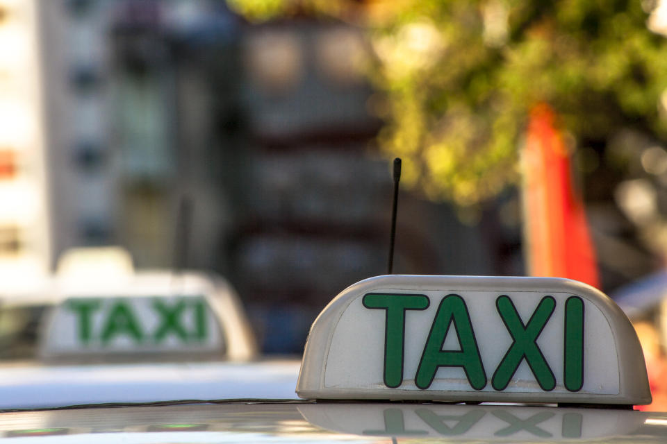 Taxi sign in Sao Paulo city, Brazil