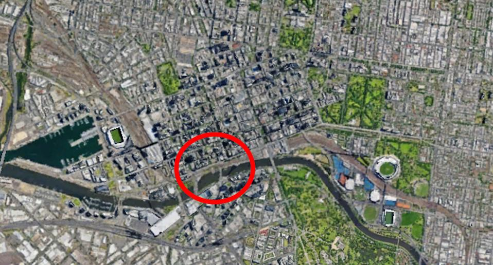 The area understood to be chosen for Melbourne's second injecting room. Source: Google Earth
