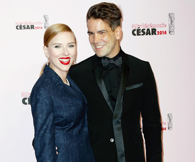 Scarlett Johansson and fiance Romain Dauriac attended the 39th Cesar Film Awards in Paris on Feb. 28