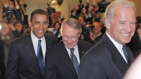 gty obama biden reid thg 130408 wblog Obamas Fired Up About Guns, But Will It Matter? (The Note)