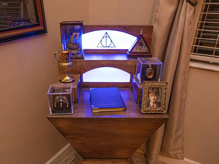 There are seven Horcruxes hidden about the house.