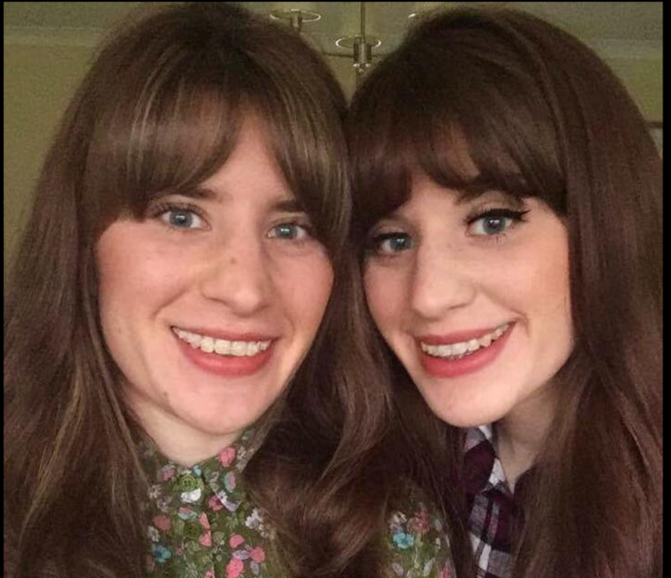 Twin sisters Melissa and Georgia Laurie, 28 (Facebook)