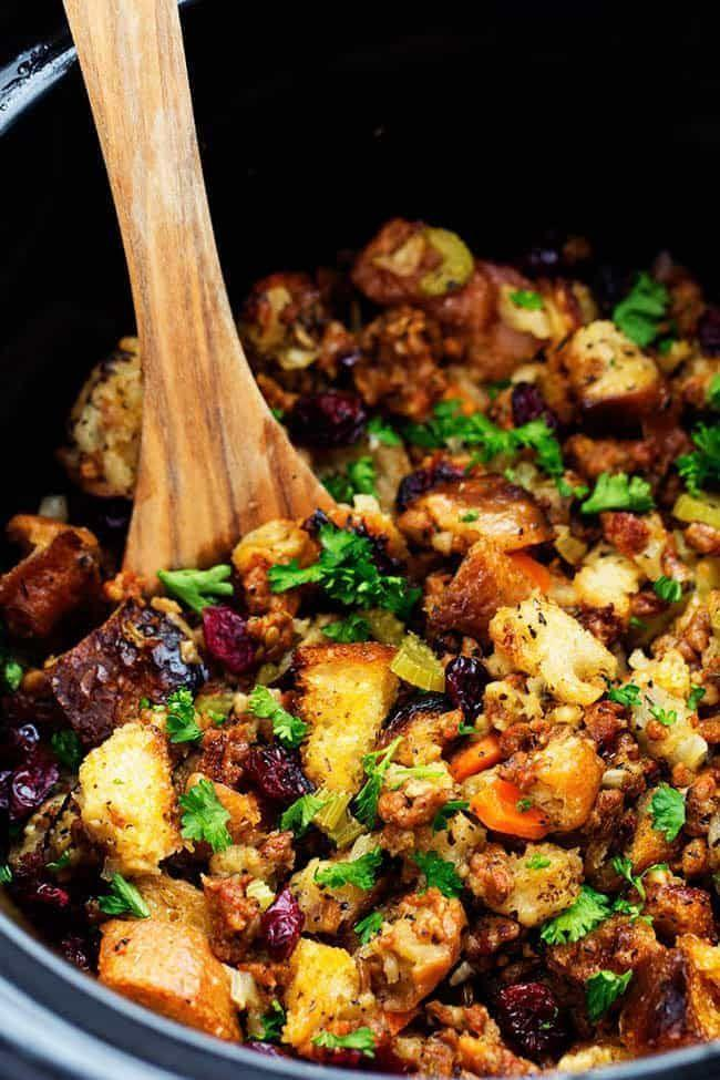 """<p>Stuffing, dressing, whatever you call it: It just became much easier to make, and will taste just as good—maybe even better.</p><p><strong>Get the recipe at <a href=""""https://therecipecritic.com/slow-cooker-sausage-herb-stuffing/"""" rel=""""nofollow noopener"""" target=""""_blank"""" data-ylk=""""slk:The Recipe Critic"""" class=""""link rapid-noclick-resp"""">The Recipe Critic</a>.</strong> </p>"""