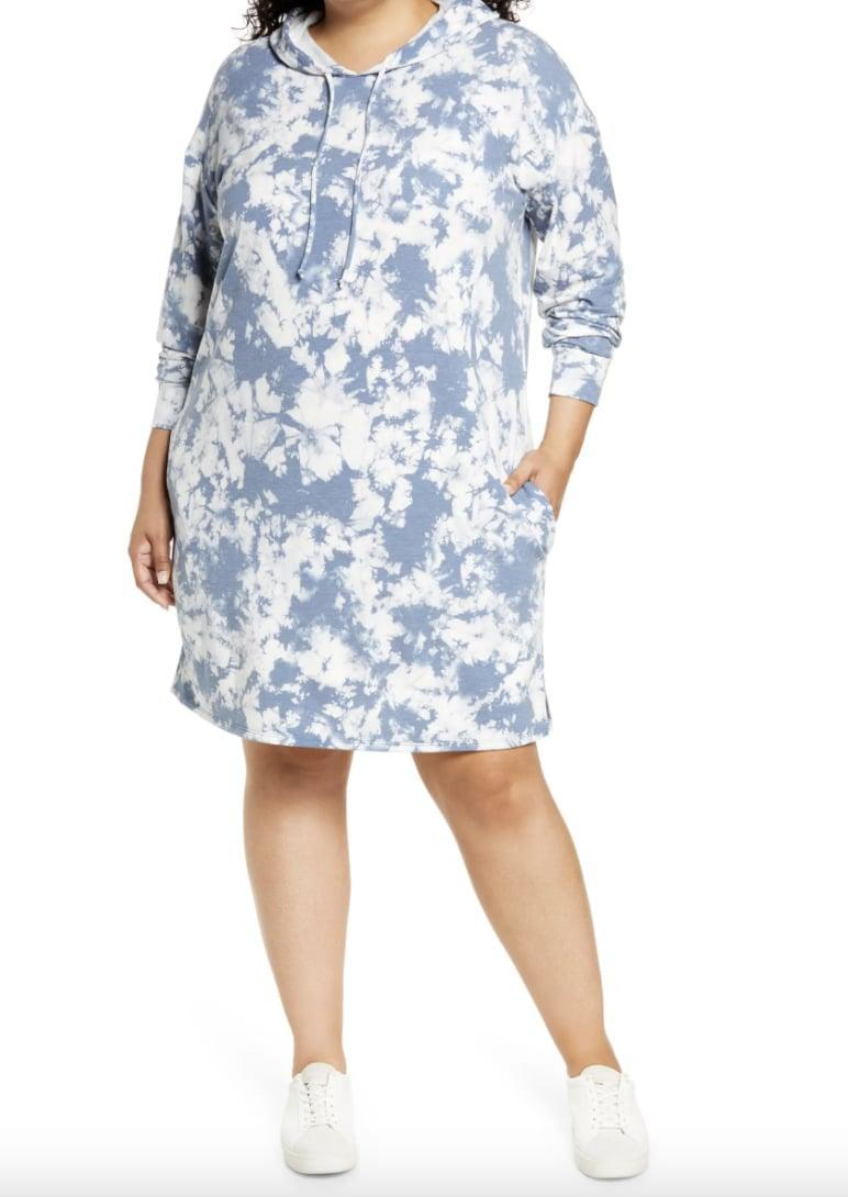 <p>We love the relaxed fit of this <span>Caslon Tie Dye Long Sleeve Hoodie Dress</span> ($59).</p>