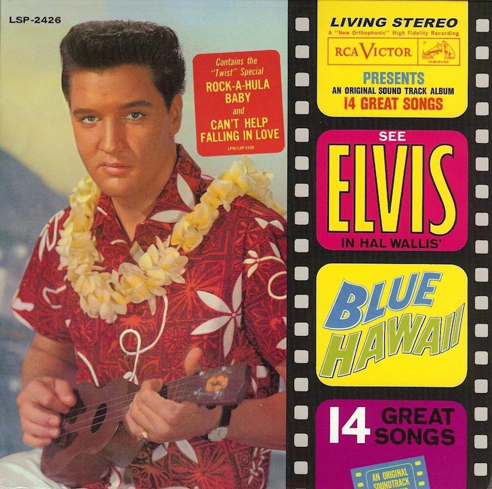 <p>Elvis in 1961 wears a Taire flower-print shirt inspired by a Shaheen design team trip to Tahiti. </p>