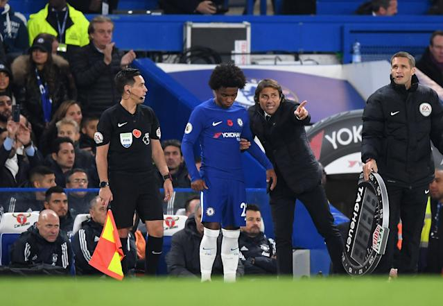 Willian admitted he would have left the club if Antonio Conte had remained in charge