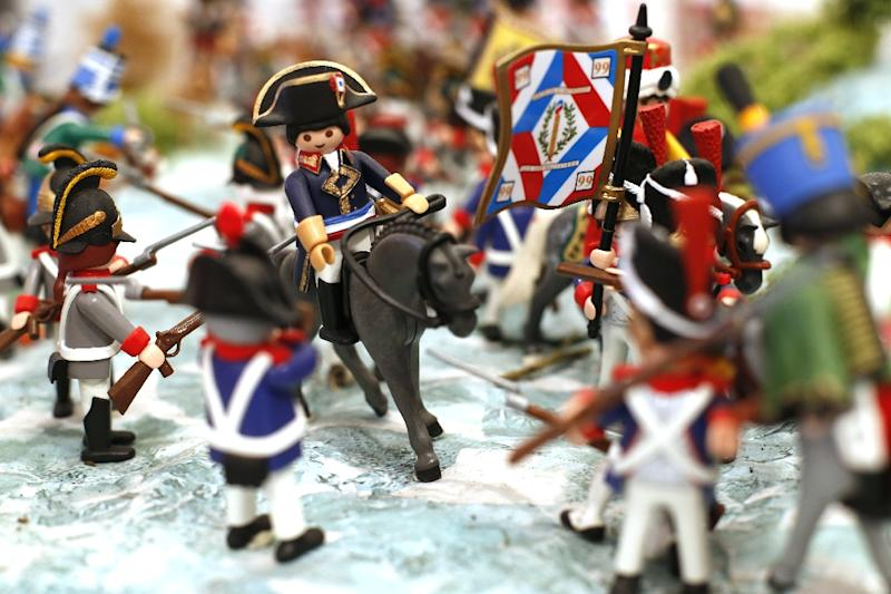 One of the custom-made Napoleon Playmobil figurines at the Naporama museum in the French emperor's hometown of Ajaccio, France (AFP Photo/PASCAL POCHARD-CASABIANCA)