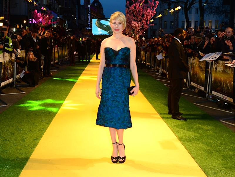 Michelle Williams  attends Walt Disney Pictures European Premiere of 'Oz: The Great And Powerful' at the Empire Leicester Square in London on Thursday, Feb. 28, 2013. (Jon Furniss/Invision for Disney/AP)