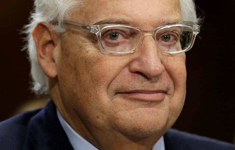 David Friedman has been a staunch defender of Israeli settlements: REUTERS