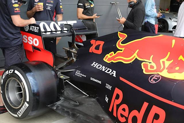 "Pierre Gasly, Red Bull Racing RB15 rear wing detail <span class=""copyright"">Giorgio Piola</span>"