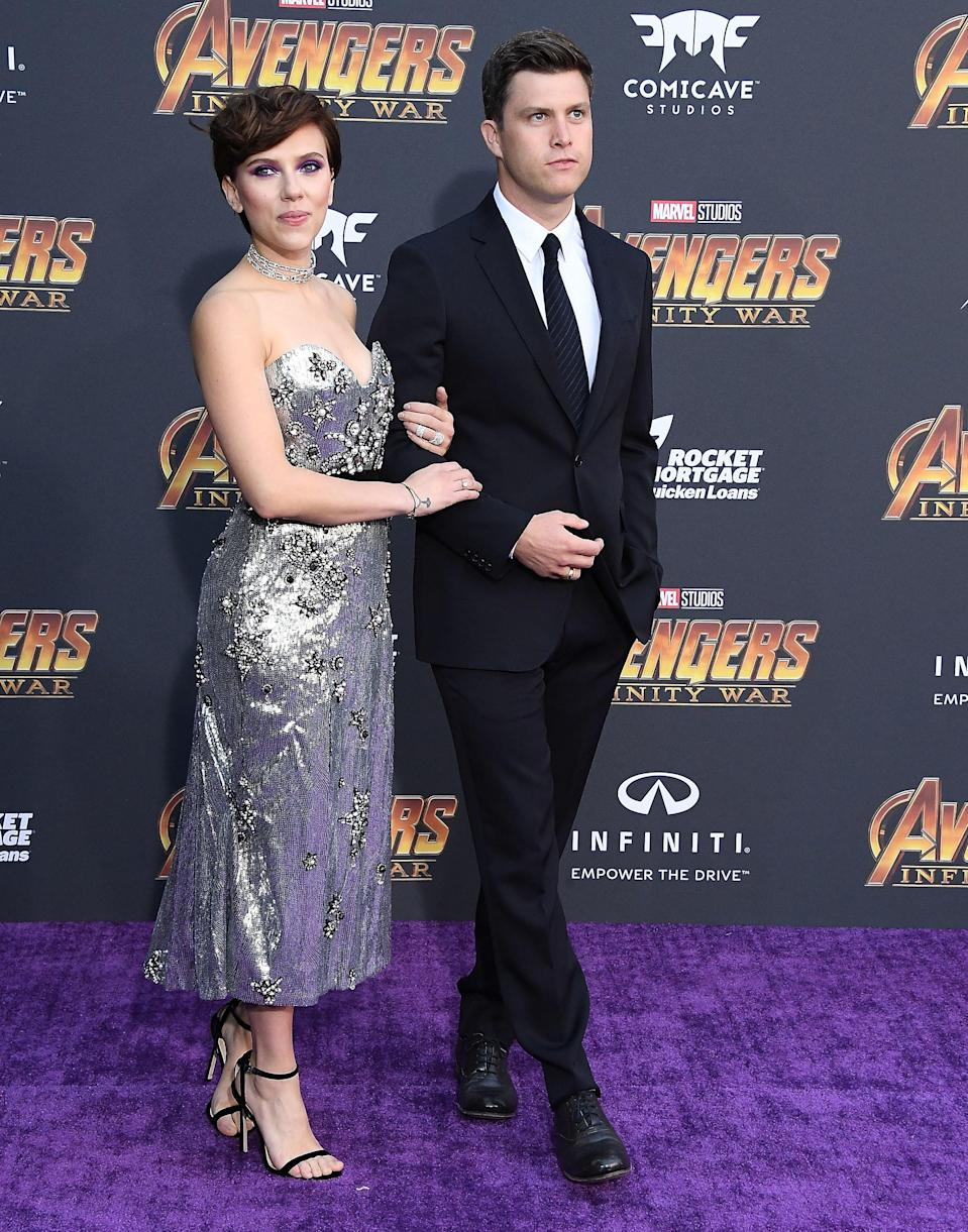 The two posed on the red carpet for Avengers: Infinity War.