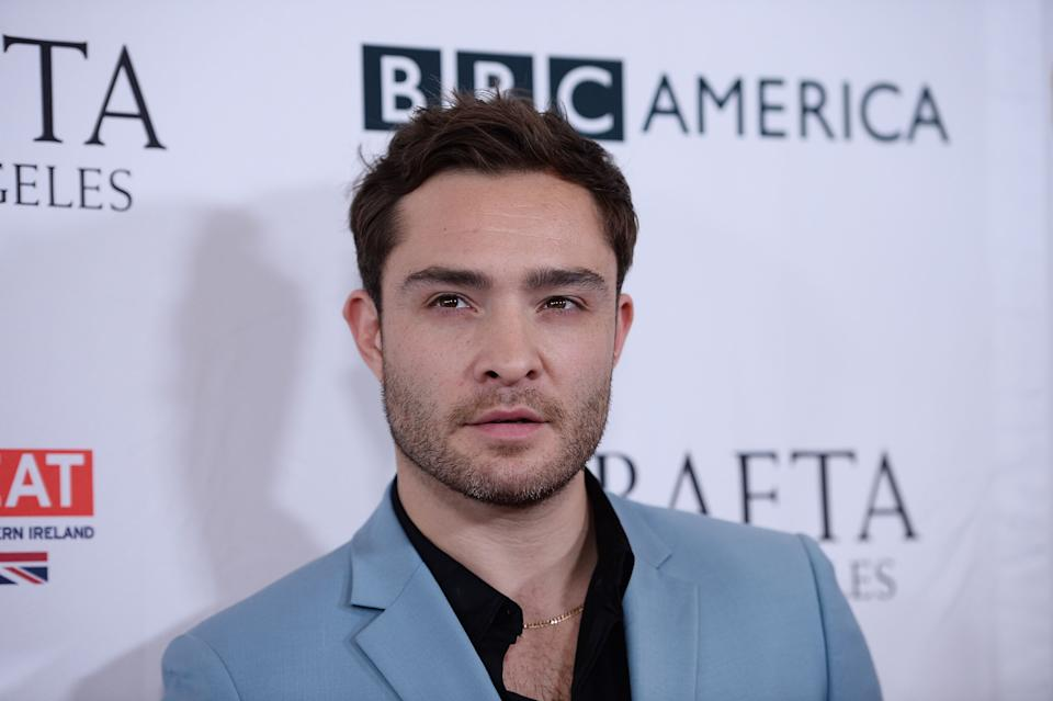 BEVERLY HILLS, CA - SEPTEMBER 16:  Actor Ed Westwick arrives at the BBC America BAFTA Los Angeles TV Tea Party 2017 at The Beverly Hilton Hotel on September 16, 2017 in Beverly Hills, California.  (Photo by Amanda Edwards/WireImage)