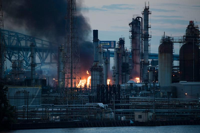 Fire, explosions at Philadelphia oil refinery caused by butane vat; no injuries reported