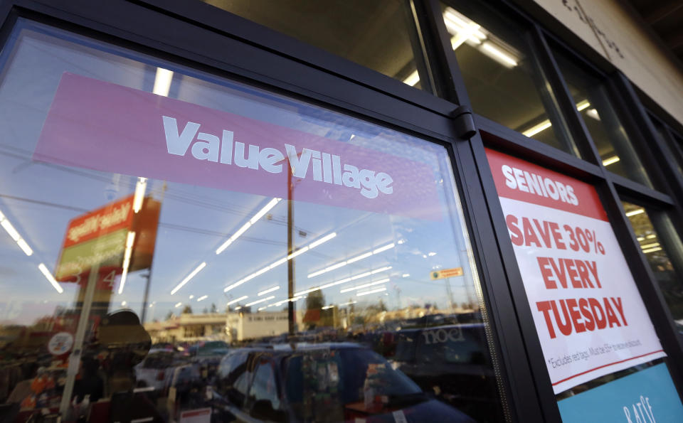 A Value Village store is seen Tuesday, Dec. 12, 2017, in Edmonds, Wash. The company that operates 300 Value Village, Savers and other thrift stores in the U.S., Canada and Australia is suing Washington state Attorney General Bob Ferguson, saying his office has violated its rights by demanding $3.2 million to settle a three-year investigation. TVI Inc., of Bellevue, said in the lawsuit filed in federal court Monday that it's trying to head off an anticipated complaint from the attorney general's office. (AP Photo/Elaine Thompson)