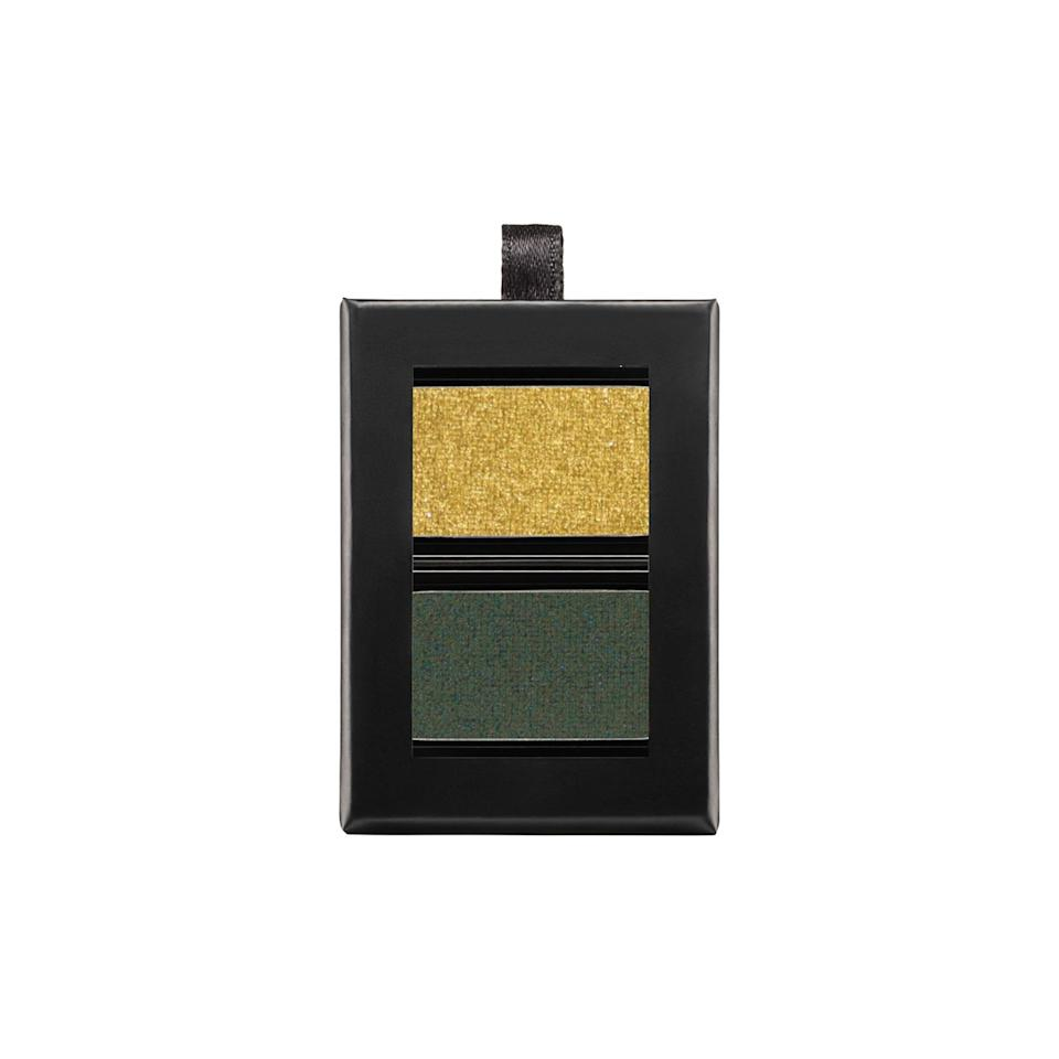 """<p>If leprechauns designed shadow palettes, here would be their best work. The deep evergreen looks best pressed deep into the roots of your lashes while the warm gold is nice swept upwards to the brow bone.</p><p>$15 (<a rel=""""nofollow"""" href=""""http://www.butterlondon.com/Eye/Shadow/Wardrobe-Duo-Palm-Paradise.html?mbid=synd_yahoobeauty"""">butterlondon.com</a>).</p>"""