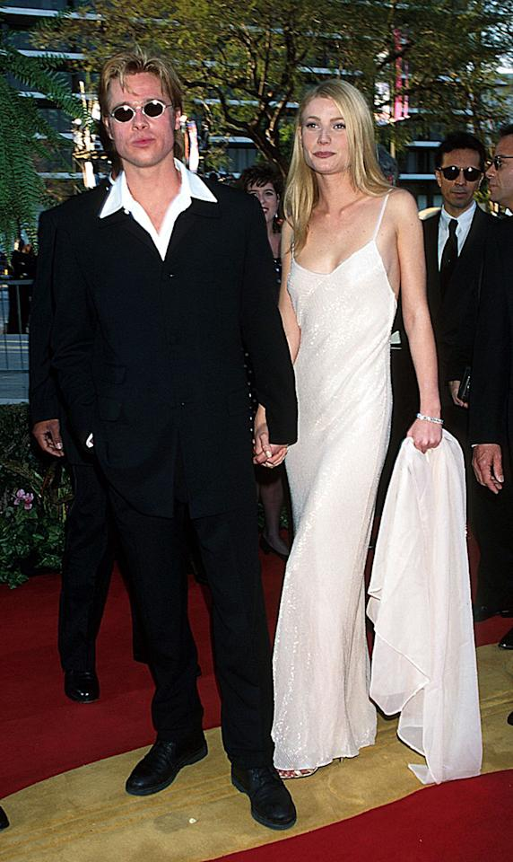<p>Remember when Brad and Gwyneth were a thing? Remember when you were nothing if you weren't wearing a slipdress and coordinating wrap to a formal function? Remember when Gwyneth was still so green, she clutched said wrap with a death grip (smoke your weekly American Spirit and chill, Gwynnie)? Remember the halcyon, pre-Bennifer days when not every couple had to have a stupid, cutesy portmanteau like Bryneth or Gwad? </p><p><i>(Getty)</i></p>