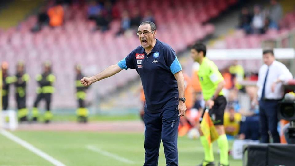 Sarri sulla panchina del Napoli | Francesco Pecoraro/Getty Images