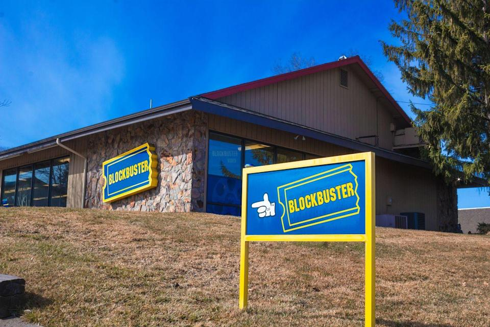 """<p>The last Blockbuster in the world (which must be protected at all costs) is located in Bend, Oregon, and has been open since 2000. It's so popular that it was even rented out as a <a href=""""https://www.airbnb.com/rooms/44577127?source_impression_id=p3_1621609826_tLMkbkKE34U4yqxh"""" rel=""""nofollow noopener"""" target=""""_blank"""" data-ylk=""""slk:location on Airbnb"""" class=""""link rapid-noclick-resp"""">location on Airbnb</a>.</p><p>Source: <em>The Last Blockbuster </em>(2020)</p>"""