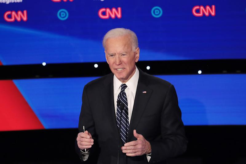 Former Vice President Joe Biden has emphasized his foreign policy experience, including at the Democratic presidential debate in Des Moines, Iowa, last week. (Photo: Scott Olson/Getty Images)