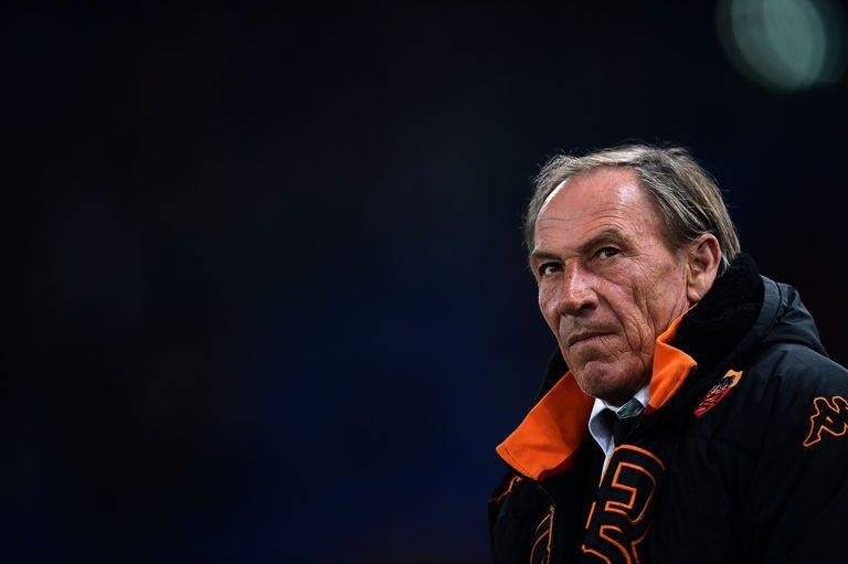 Zeman looks on before the Serie A football match against Cagliari in Rome's Olympic Stadium on Febuary 1, 2013
