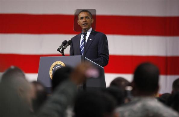 President Obama holds a Veterans Day event at U.S. Army Garrison at Yongsan military base in Seoul, November 11, 2010.