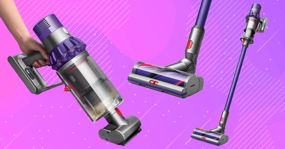The  Dyson Cyclone V10 Animal is a cordless stick vac that converts into a handheld. (Photo: QVC)