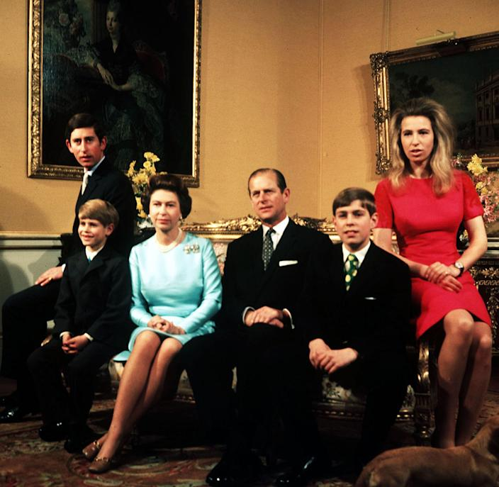 <p>The Duke of Edinburgh with the Queen and their children in 1972</p> (PA)