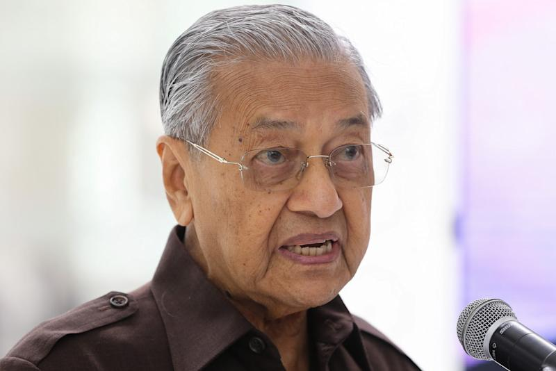 Prime Minister Tun Dr Mahathir Mohamad speaks during the launch of the National Heritage and Culture Charter in Kuala Lumpur September 20, 2019. — Picture by Yusof Mat Isa
