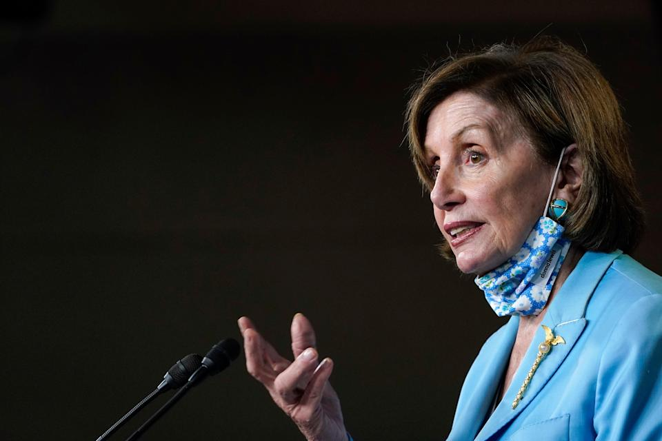House Speaker Nancy Pelosi has called on former attorneys general William Barr and Jeff Sessions to testify regarding the seizure of House Democrats' data (Copyright 2021 The Associated Press. All rights reserved.)