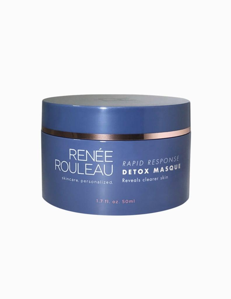 """<p>""""In an effort to stay zen and keep myself busy, I've gotten better at incorporating weekly add-ons into my beauty routine. Every weekend I give myself a mini facial by combining a couple of face masks, depending on what my skin needs. The <a href=""""https://www.popsugar.com/buy/Ren%C3%A9e-Jouleau-Rapid-Response-Detox-Masque-588602?p_name=Ren%C3%A9e%20Jouleau%20Rapid%20Response%20Detox%20Masque&retailer=reneerouleau.com&pid=588602&price=66&evar1=bella%3Aus&evar9=47612601&evar98=https%3A%2F%2Fwww.popsugar.com%2Fbeauty%2Fphoto-gallery%2F47612601%2Fimage%2F47612605%2FRen%C3%A9e-Rouleau-Rapid-Response-Detox-Masque&list1=beauty%20products%2Cbeauty%20shopping&prop13=mobile&pdata=1"""" class=""""link rapid-noclick-resp"""" rel=""""nofollow noopener"""" target=""""_blank"""" data-ylk=""""slk:Renée Jouleau Rapid Response Detox Masque"""">Renée Jouleau Rapid Response Detox Masque</a> ($66) is my go-to for fighting breakouts and maskne (which I can't seem to get away from). </p> <p>This time at home has also made me better at remembering to exfoliate regularly - something that used to get forgotten in the hustle of the busy work week. I use a physical exfoliator once a week - right now I'm loving the <a href=""""https://www.popsugar.com/buy/Tula-So-Poreless-Deep-Exfoliating-Blackhead-Scrub-586247?p_name=Tula%20So%20Poreless%20Deep%20Exfoliating%20Blackhead%20Scrub&retailer=tula.com&pid=586247&price=32&evar1=bella%3Aus&evar9=47612601&evar98=https%3A%2F%2Fwww.popsugar.com%2Fbeauty%2Fphoto-gallery%2F47612601%2Fimage%2F47612605%2FRen%C3%A9e-Rouleau-Rapid-Response-Detox-Masque&list1=beauty%20products%2Cbeauty%20shopping&prop13=mobile&pdata=1"""" class=""""link rapid-noclick-resp"""" rel=""""nofollow noopener"""" target=""""_blank"""" data-ylk=""""slk:Tula So Poreless Deep Exfoliating Blackhead Scrub"""">Tula So Poreless Deep Exfoliating Blackhead Scrub</a> ($32) - and chemical exfoliating peel pads an additional one or two times through the week. But the biggest change in my beauty routine has come in the nail department. </p> <p>As some"""