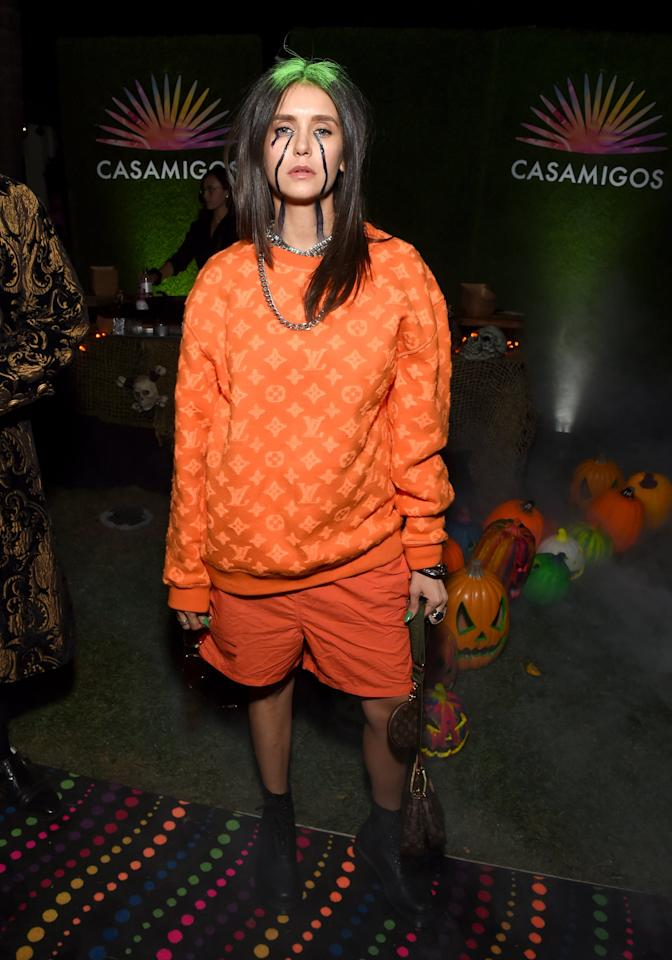 "<p>At the 2019 Casamigos <a class=""sugar-inline-link ga-track"" title=""Latest photos and news for Halloween"" href=""https://www.popsugar.co.uk/Halloween"" target=""_blank"" data-ga-category=""internal click"" data-ga-label=""https://www.popsugar.co.uk/Halloween"" data-ga-action=""body text link"">Halloween</a> party, Nina channeled her inner <a class=""sugar-inline-link ga-track"" title=""Latest photos and news for Billie Eilish"" href=""https://www.popsugar.co.uk/Billie-Eilish"" target=""_blank"" data-ga-category=""internal click"" data-ga-label=""https://www.popsugar.co.uk/Billie-Eilish"" data-ga-action=""body text link"">Billie Eilish</a>. </p>"