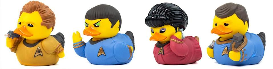 The original crew of the Enterprise are the logical choice for your bath tub time.