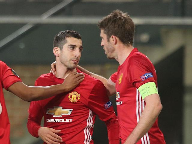 Both Mkhitaryan and Carrick make the side: Getty