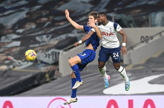 Serge Aurier had a chance to equalise for Tottenham
